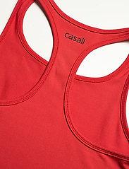 Casall - Bold Rib Crop Tank - któtkie bluzki - impact red - 3