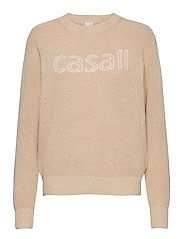 Knitted Logo Sweater - WARM MELANGE
