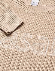 Casall - Knitted Logo Sweater - dzianinowe - warm melange - 2