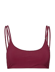Strap Bikini Top - DK MOVING RED