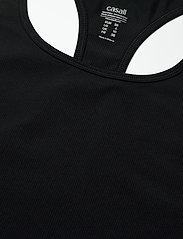 Casall - Essential Rib Racerback - podkoszulki bez rękawów - black - 2