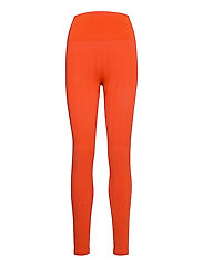 Shiny Matte Seamless Tights - INTENSE ORANGE
