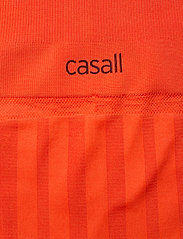 Casall - Shiny Matte Seamless Tights - running & training tights - intense orange - 3