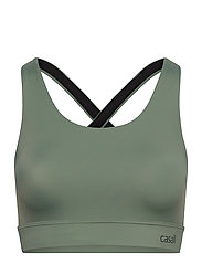 Crossback Sports Bra - BOTANIC GREEN