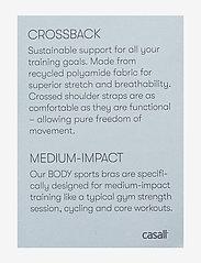 Casall - Crossback Sports Bra - biustonosze sportowe: średnie - savannah pink - 2