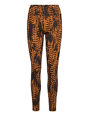 Iconic Printed 7/8 Tights - SURVIVE BROWN