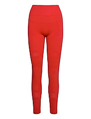 Seamless Blocked Tights - IMPACT RED