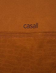 Casall - Shiny Alligator Seamless Tights - running & training tights - hazel brown - 2
