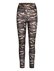 Printed Sport Tights - GREY PAINT