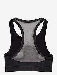 Casall - Iconic wool sports bra - sort bras:high - black logo - 1