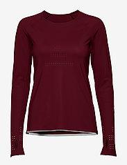 Casall - Ventilation Long Sleeve - bluzki z długim rękawem - dk moving red - 0