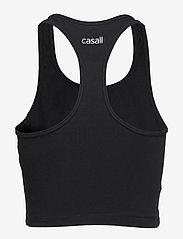 Casall - Bold Rib Crop Tank - któtkie bluzki - black - 2