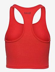 Casall - Bold Rib Crop Tank - któtkie bluzki - impact red - 1
