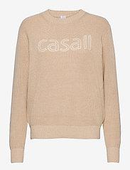 Casall - Knitted Logo Sweater - dzianinowe - warm melange - 0