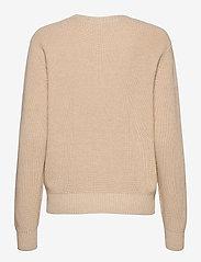 Casall - Knitted Logo Sweater - dzianinowe - warm melange - 1