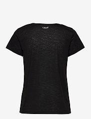 Casall - Texture Tee - t-shirty - black - 1