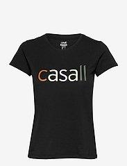 Casall - Block Logo Tee - t-shirty - black - 0
