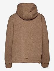 Casall - Zip Hoodie - bluzy z kapturem - brown melange - 1