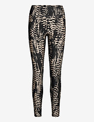 Casall - Iconic Printed 7/8 Tights - running & training tights - survive grey metallic - 0