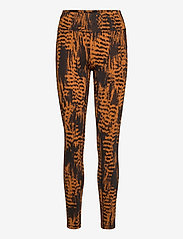Casall - Iconic Printed 7/8 Tights - running & training tights - survive brown - 0