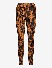 Casall - Iconic Printed 7/8 Tights - running & training tights - survive brown - 1