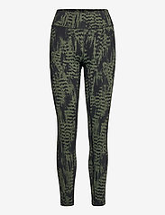 Casall - Iconic Printed 7/8 Tights - running & training tights - survive dk green - 0