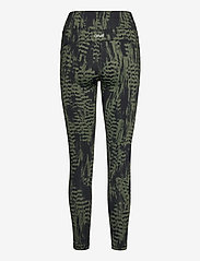 Casall - Iconic Printed 7/8 Tights - running & training tights - survive dk green - 1