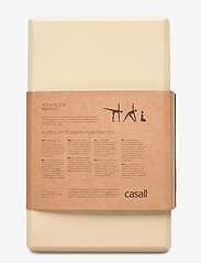 Casall - Yoga block bamboo - maty i sprzęt do jogi - natural - 2