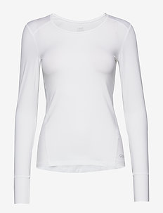 Essential long sleeve - langermede topper - white