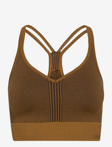 Seamless sports top - sport bras: low support - sepia brown
