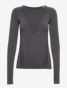 Seamless Wool Long Sleeve - CHARCOAL GREY