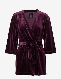 Velvet kimono - kimono's - pulse purple