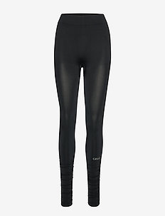 Seamless rib tights - BLACK