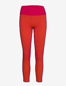 Seamless tights - löpnings- och träningstights - vivid pink