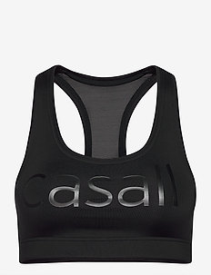 Iconic wool sports bra - sport-bh: medium - black logo