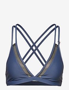 Lacing Bikini Top - BLUE SPRING