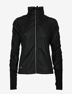 Gathered Wind Jacket - training jackets - black