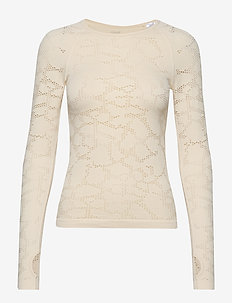 Seamless Structure Long Sleeve - CORE WHITE