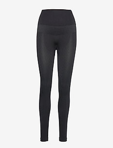 Seamless Chevron Tights - running & training tights - black