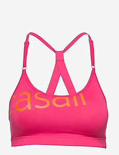 Strappy Sports Bra - sport-bh: hög - vivid pink