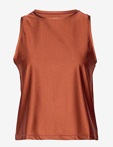 Metallic Muscle Tank - BRAVE BROWN