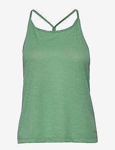 Texture Strap Racerback - linnen - steamy green