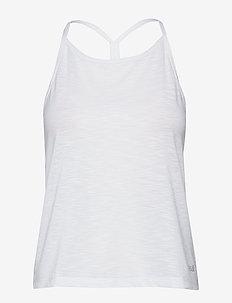 Texture Strap Racerback - linnen - white