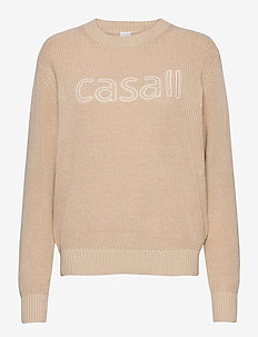 Knitted Logo Sweater - neulepuserot - warm melange