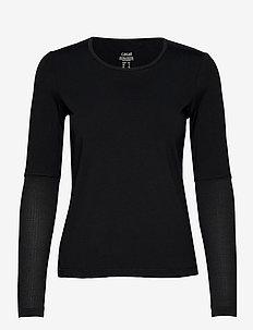 Iconic Long Sleeve - bluzki z długim rękawem - black