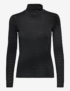 Logo Turtleneck - topjes met lange mouwen - black