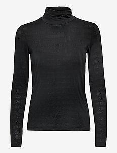 Logo Turtleneck - långärmade tröjor - black