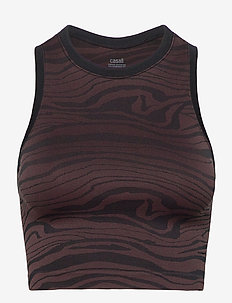 Seamless Melted Top - hauts courts - melted brown
