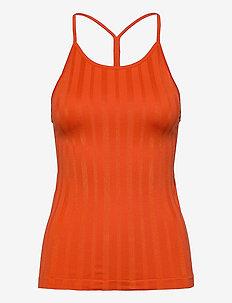 Shiny Matte Seamless Strap Tank - linnen - intense orange