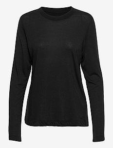 Ease Crew Neck - langarmshirts - black